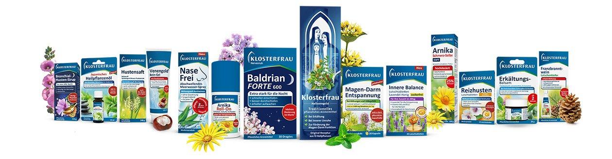 Produktrange von Klosterfrau-Produkten