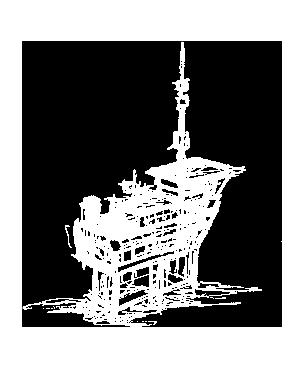 Zeichnung Offshore Plattform
