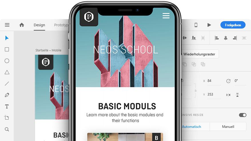 Adobe XD UI und Mobile-Design
