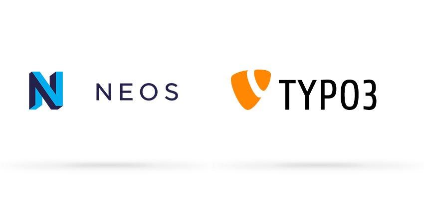 Grafik NEOS und TYPO3 Logos